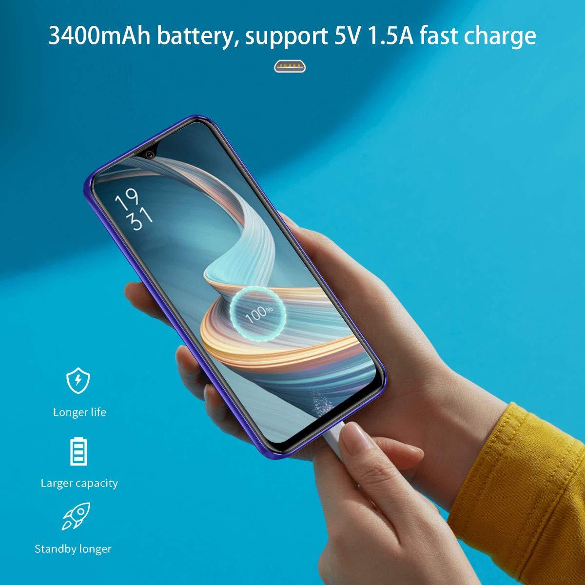 """Moviles Libres 4G, AOYODKG A36 Android 9.0 (Certificación Google GMS) 3GB RAM+32GB ROM/128GB Smartphone Libre 5.5"""" HD+ Pantalla Cámara 8MP GPS Móviles y Smartphones Libres (Blue): Amazon.es: Electrónica"""