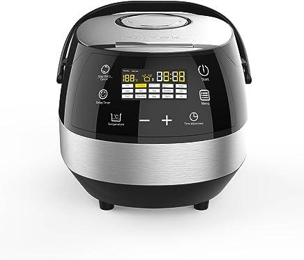 CleverChef 14 合 1 智能数字多锅 - 电饭煲 蒸锅 汤和面包机 - 5 升 860W 镀铬色