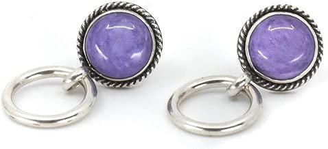 russian charoite earrings