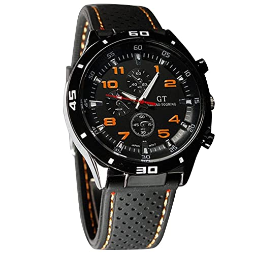 Cool Mens Racer Military Pilot Aviator Army Silicone Sports Watch