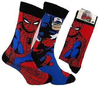 Cartoon Hommes Chaussettes Super-héros Batman Superman 6 Paire//Lot Coton Chaussettes Bas No Show