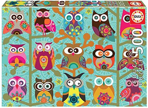 Educa Búhos. Puzzle de 500 Piezas. Ref. 19006, Multicolor