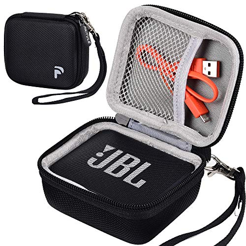 Case Compatible for JBL GO 2/ JBL GO Portable Bluetooth Waterproof Speaker, Travel Storage Bag Holder Fits for USB Cable and Charger. (Speaker and Accessories not Includes)-Black