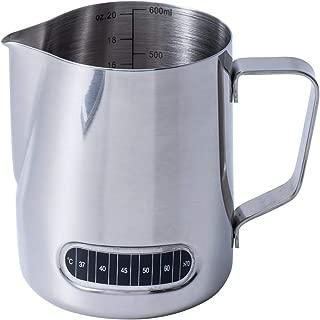 metal milk steaming pitcher