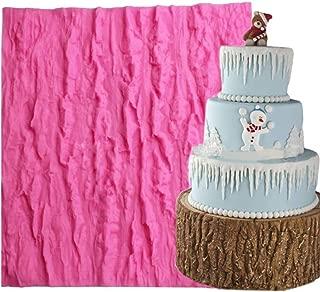 Fondant Impression Mat, KOOTIPS Tree Bark texture Design Silicone Cake Decorating Supplies for Cupcake Wedding Cake Decoration (Tree Bark mat)