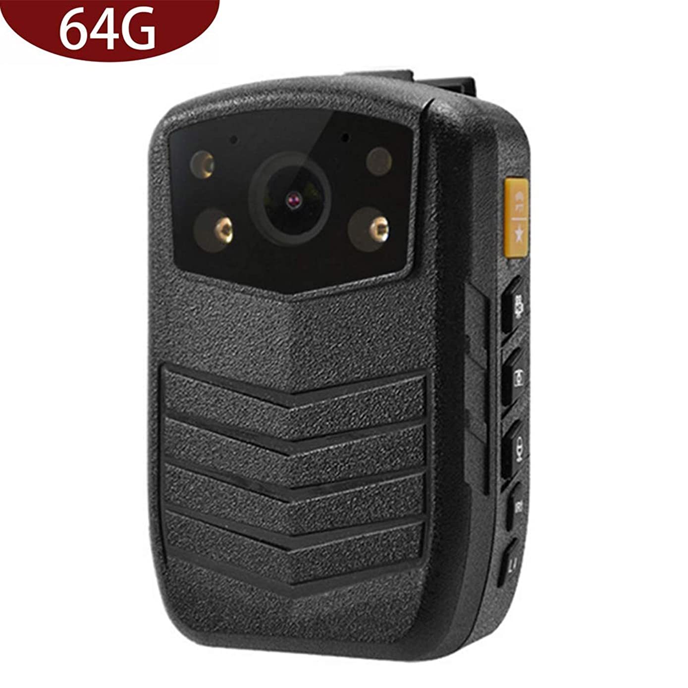 Meknic Q3 2K High Definition Portable Security Guards 64G Body Camera, Police Body Worn Mounted Camera Good Night Vision with 2