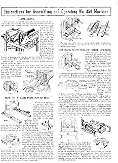 Delta Rockwell for Assembling and Operating No. 458 Mortiser Instructions Reprint [Plastic Comb]