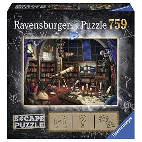 Ravensburger 19956 Escape Puzzle per Adulti, L'osservatorio Magico, 759 Pezzi, Dimensioni Finali 70x50 cm