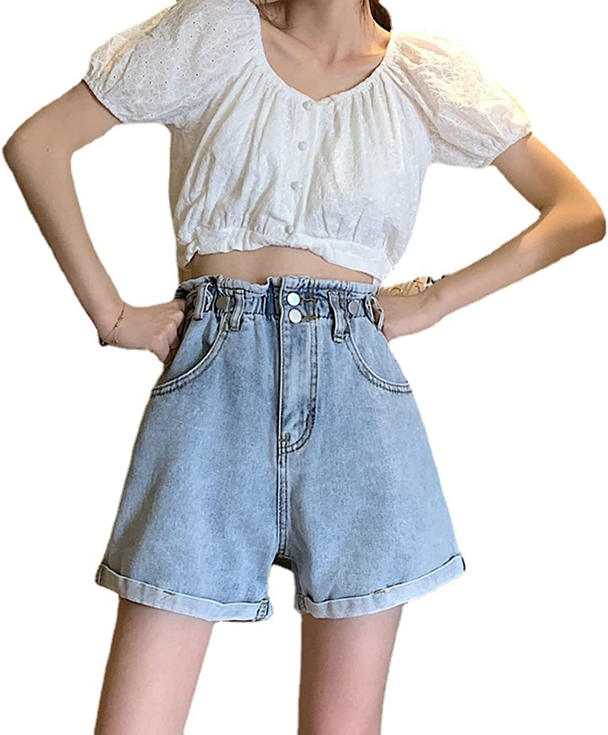 Direct store Casual Jeans for Womens Student New York Mall Retro Summer Shorts Bottoms Simp