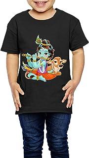 精神的なシンボルとかわいいイラスト 子供服 キッズ 半袖 Tシャツ 綿100% 5-6 Toddler