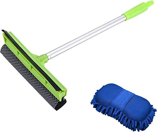 popular X XINDELL 2-in-1 Car Window Squeegee and Wash Sponge Mitt new arrival with Premium Chenille online sale Microfiber online sale