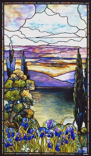 Feeling at home Imagen sobre Lienzo con Caja Americana Escena Lakeland con Azul y P Lederle Impresion enmarcada con Marco Figurativo Vertical 80_X_48cm