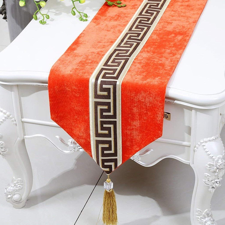 lo último Easy Cochee Simple Suave al Tacto Manteles Manteles Manteles de Estilo Europeo Mantel Individual, 33  300 CM (Color  Naranja, Tamaño  33  300 CM)  auténtico
