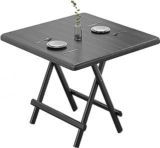 ZRN Table Pliante à la Maison Table à Manger Simple Table à Manger pour Ordinateur Portable pour canapé, Jardin, Balcon, B...
