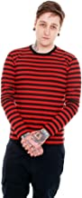 Run & Fly Mens Indie Retro 60's Black & Red Striped Long Sleeve T Shirt
