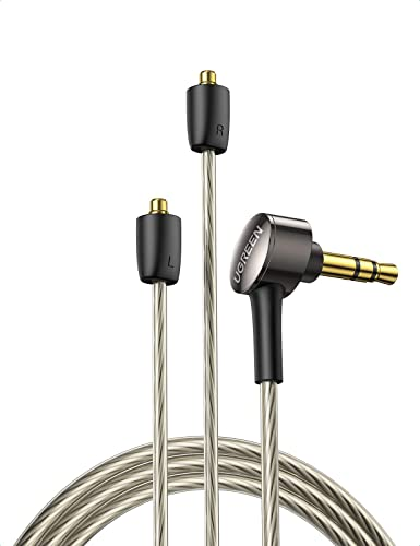 discount UGREEN MMCX Cable 8 discount Core 3.5mm to Dual MMCX Balanced Audio Cable, Silver Plated Earphone Replacement Cable HiFi Sound Audio Jack Compatible with Shure SE215 SE315 TIN Audio T2 T3, 4FT (MMCX sale 3.5mm) outlet online sale