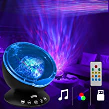 K KBAYBO Ocean Wave Projector 12 LED &7 Colors Night Light Projector with Built-in Mini Music Player Remote Control for Li...