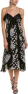 Womens Joelle Silk Ruffled Party Dress