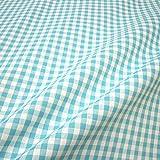 Stoff Baumwolle Bauernkaro türkis weiß 1 cm Karo Vichy