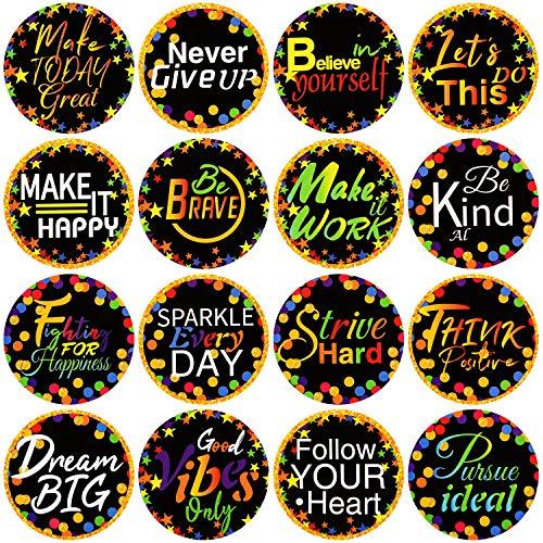 160 Pieces Confetti Positive Sayings Accents Confetti Accents Removable Confetti Stickers for Classroom Bulletin Board Decoration (Black, 5 cm)