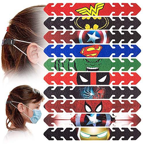 Ziidoo Maskenverlängerung,Mask Extender,Leder Masken Halter,Superheld Maskenhaken Anti-Tightening Ear Protector Haken Ohrriemen ZubehöR OhrverläNgerungsmaske Schnall Ohrenschmerzen Gelindert (10pcs)