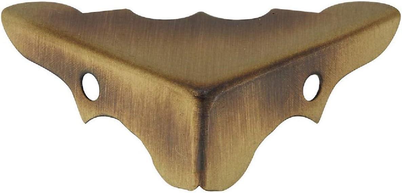 NATIONAL/SPECTRUM BRANDS HHI N213-462 9/16-Inch Antique Brass Corner, 4-Pack