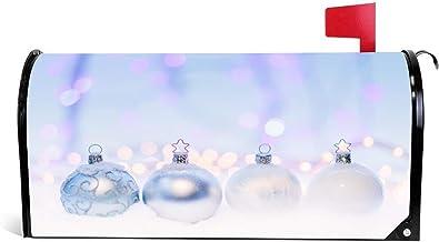 happygoluck1y 4 Crystal Bauble Mailbox Covers Magnetische Standaard Size Vakantie Seizoensgebonden Thuis Tuin Decor Kerst ...
