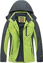 Diamond Candy Women Windproof Hooded Ski Waterproof Rain Jacket Lightweight for Hiking