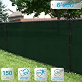 Patio Paradise 6' x 50' Dark Green Fence Privacy Screen, Commercial Outdoor Backyard Shade Windscreen Mesh Fabric with Brass Gromment 88% Blockage- 3 Years Warranty (Customized