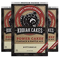 Pack of (3) Kodiak Cakes Power Cakes, Non GMO Protein Pancake, Flapjack and Waffle Mix, Buttermilk, 20 Ounce Made with all non-GMO whole wheat and oat flours, and packed with 14g protein per serving Contains about 11 servings per box (3 Boxes Per Pac...