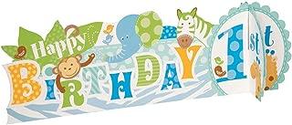 Blue Safari First Birthday Centerpiece Decoration