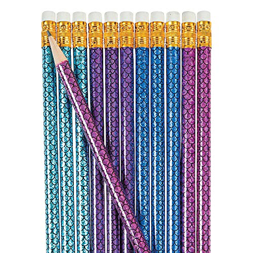 Fun Express - Mermaid Pencil - Stationery - Pencils - Pencils - Printed - 24 Pieces