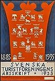Schweden Reise-Poster 1935 skandinavische Wand-Kunst