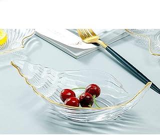 MCE Fruitlade Set Sundae Dessert Voorgerecht Fruit Kom Fruit Plaat Home Mode Glas Glas (Color : Conch)
