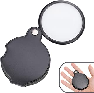 Pocket Magnifying Glass, 5x60 Folding Magnifier Loupe with Protective Case for Reading,Inspection