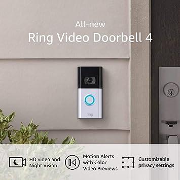 Amazon Official Site: Ring Video Doorbell 4