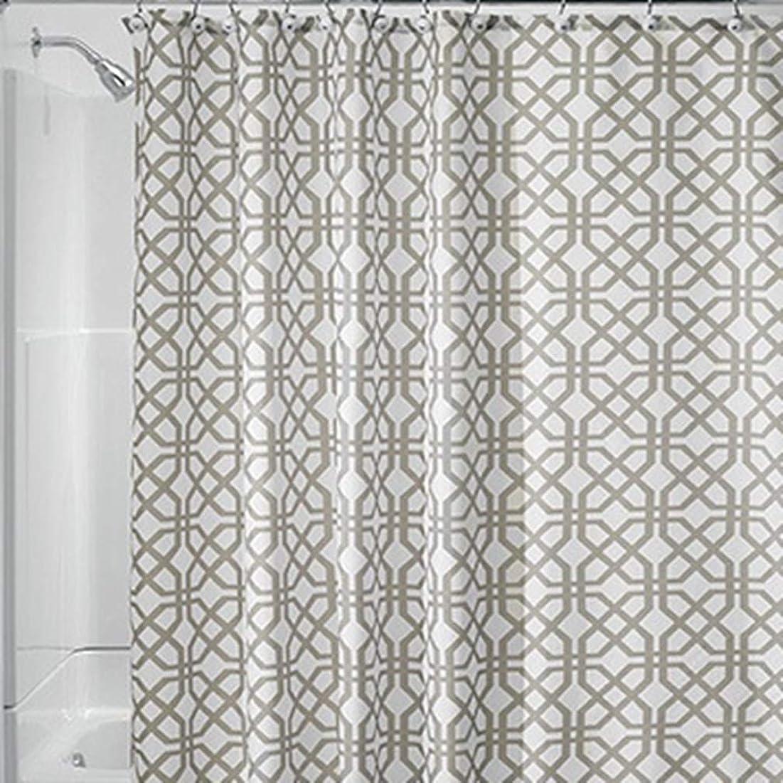 飛行場電球まもなく[スンル]シャワーカーテン 180*180cm バスカーテン お風呂バス お風呂カーテン 間仕切り 防水 防カビ リング付属 おしゃれ 速乾 軽量 取付簡単 洗面所 浴室 ブラウン