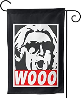 WWE RIC FlairWelcome Garden Flag Double-Sided Polyester Flag for House Garden Courtyard Lawn Garden Outdoor Decoration