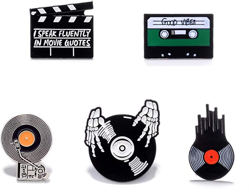 SUNSH 5 2021 spring and summer new Pcs Set of Super popular specialty store DJ Wome Novelty Brooches for Music CuteBadges
