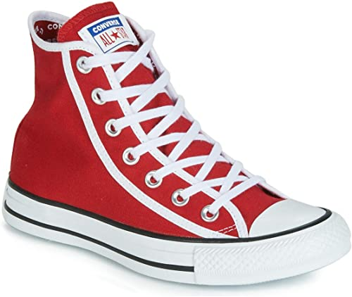 Converse Basket Toile Haute Chuck Taylor All Star Hi Rouge MultiCouleur