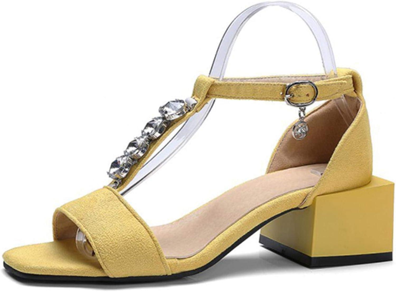 Summer Women Sandals Black Peep Toe Rhinestone High Heels