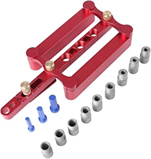 Woodworking Self Centering Dowelling Jig for Metric Dowels 6/8/10mm Precise Drilling Tools RED