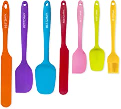 Silicone Spatula - 7 Spatulas Silicone Heat Resistant - Mini Rubber Spatula Set - Cooking Spatulas for Nonstick Cookware -...