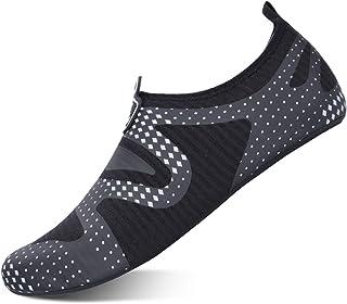 L-RUN أحذية مائية للجنسين حافي القدم لتشغيل الغوص وركوب الأمواج والسباحة والشاطئ واليوغا