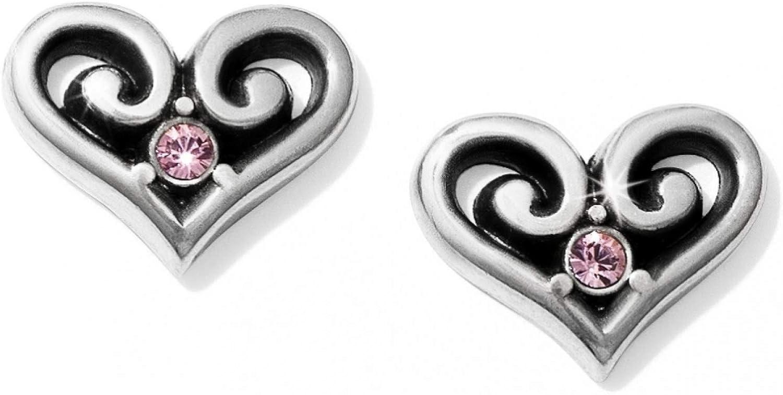 Brighton Alcazar Heart Crystal Post Earrings [ROSE]