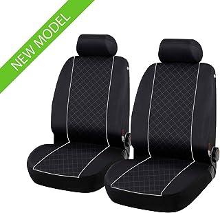 Coprisedili Anteriori Neri CX-3 Versione 2015 - in Poi compatibili con sedili con airbag con Fori per i poggiatesta e bracciolo Laterale
