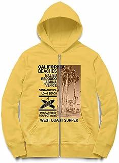 Fox Republic カリフォルニア プリスタインビーチ ヤシの木 イエロー キッズ パーカー シッパー スウェット トレーナー 110cm