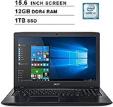 Acer 2019 Aspire E5 15.6 Inch FHD Laptop (Intel Dual Core i3-8130U up to 3.4 GHz, 12GB RAM, 1TB SSD, Intel HD Graphics 620, WiFi, Bluetooth, HDMI, DVD, Windows 10 Home)