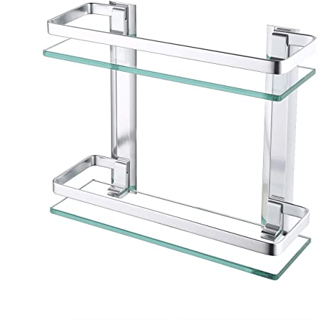 KES Estanteria Baño Aluminio Templado Estanteria Cristal ...