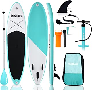 """Ediors SUDOO 10ft Inflatable Stand Up Paddle Board 6"""" Thick EVA Deck Surfboard Surfing SUP Board w/Accessories Backpack,Le..."""